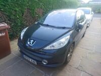 "Peugeot 207 1.6 THP GT (07/Petrol/Black) FSH Panoramic Sunroof Folding Wing Mirrors 17"" First Car"