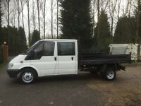 Ford transit double cab tipper 2004 54