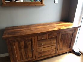 Solid wood large side board