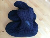 New blue Tommy Hilfiger boots slippers UK4