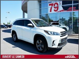 2017 Toyota Highlander LIMITED AWD - Cuir - Toit ouvrant- Démarr
