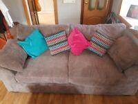 Grey fabric sofa 2 x 3 seater