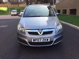 Vauxhall Zafira 1.6 petrol 2007, 1 yr MOT, 1 Former keeper, Mileage 53800, Excellent condition £2350
