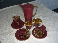 Vintage 15 piece China coffee set - Art Deco