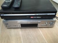 Sony DVD DVPS725D & Sony DVD+HD player (1080 up., 160 GB) RDR HXD870 - excellent condition