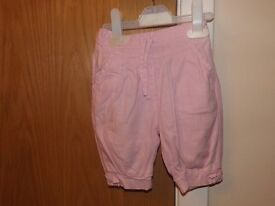 Girls Cropped Trousers 9-12 Months