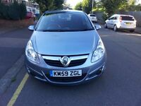Vauxhall Corsa 1.2 Active 59 Reg 2009 55000 History Very Good Air Con MOT PAS ABS