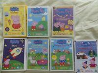 Several Peppa pig DVDs