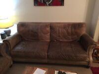 2 Piece 3 Seater + 2 Seater Leather Sofa Suite