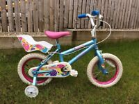 """Girls Bicycle - 14"""" Wheels -- Kids Bike for Girl Aged 1-4 Years Old"""