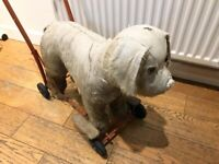 Vintage/Antique Pushalong Dog - good overall condition