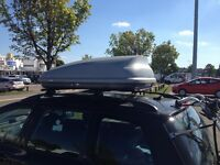 Car roof box, Halfords, 50kg max load
