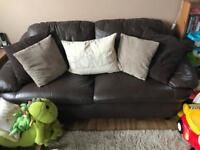 Genuine Leather Large Chocolate Sofa