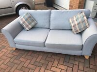 18month old DFS duck egg blue 2 seater sofa x2