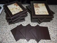 MOCK LEATHER PICTURE / PHOTO FRAMES & COASTERS (LISTED TIL SOLD)