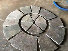 York stone feature circle