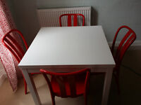 DINNER SET - table and 4 chairs IKEA