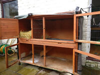 Rose cottage hutch for rabbits or guinea pigs + cover