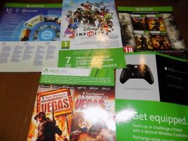 unused xbox live trial and full game codes