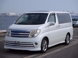 Nissan Elgrand Rider direct from Japan supplied UK Registered. Many more enroute Contact Algys Autos