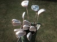 Golf clubs-Matching Driver, 3 Wood & 5 Wood, Full set matching Irons, Golf Bag, Glove, Balls & Tees