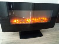 Electric long fire place