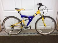 Full suspension 17inch men's bike