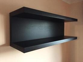 Black oak shelf unit