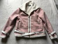 MG ladies suede waist jacket pink ex condition size 12 used £10