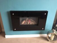 Gasco Gas fire with glass surround and remote control