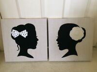Silhouette canvasses from Next
