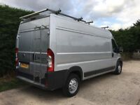 Silver Fiat Ducato, LWB, Maxi with Air conditioning