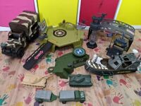 Bundle of army and navy toys