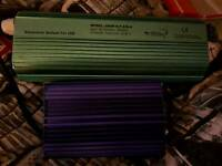 1×650w and 1× 250w hydrophonics ballasts
