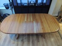 Solid Pine Dining Table - seat up to 10 - extends good condition