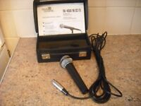'BEYER' DYNAMIC HAND HELD MICROPHONE WITH CARRYING CASE & STAND. EXCELLENT CONDITION.