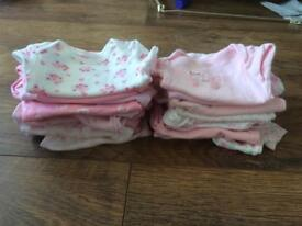 24 x newborn girl vests