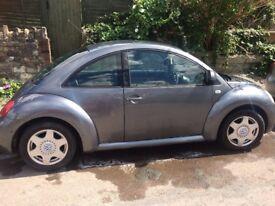 Volkswagen (VW) Beetle 2001 1.6ltr petrol hatchback for sale. 12 months MOT! Charcoal grey.