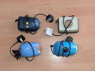 Dual outflow air pump  for fish tank aquarium