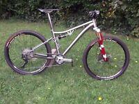 titanium mountain bike.