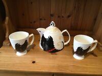 "Great Shakes ""Hamish"" Fine Bone China Teapot and two Mugs"