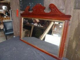Mirror Over Mantle Detail Wood Large Delivery Available