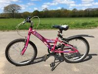 Girls 16inch bike with 6 gears
