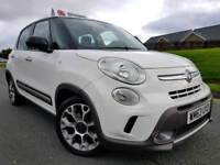 (White) 2014 Fiat 500L Trekking 1.6 Multijet, Top Spec! Bluetooth, Media Pack, Body Kit, PDC! FSH!