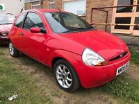 2008 FORD KA 1.3 MANUAL IN RED, MOT DECEMBER 2017 STARTS AND DRIVES VERY WELL READY TO GO