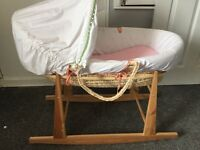Mamas and papas Moses basket with hood