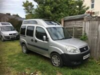 Newly converted Fiat Doblo compact camper van