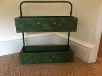 Rustic metal (green) shelving unit