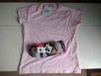 Brand New t-shirt and sports socks