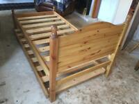Pine single bed plus